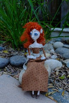 OOAK art doll. Agatha Paperclay 33cm 129 by HandmadeBearBoutique