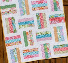 Splendor Baby Girl Quilt Handmade Floral Blanket by JennyMsQuilts
