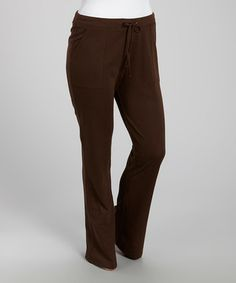 Loving this Chocolate Front Pocket Lounge Pants - Plus on #zulily! #zulilyfinds