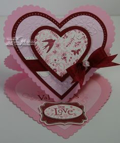 LW Designs: You Are Loved Heart Easel Card