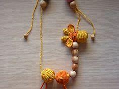 Сборка слингобус-четок на примере (it's an adorable amigurumi giraffe beaded necklace, very cute, but you'll need a bit of imagination to figure out the pattern)