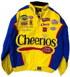 33a2a10d4fc6d5 Cheerios Nascar Cotton Twill Jacket 4x by Motorsport Authentics.  59.99.  Fficially licensed jacket this