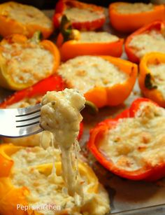 Greek Cooking, Cook At Home, My Recipes, Stuffed Peppers, Snacks, Vegetables, Friends, Kitchen, Food
