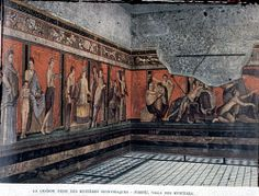 General view of the Great Frieze of the Dionysiac Mysteries, Villa of the Mysteries, Pompeii. Augustan period; 2nd style.