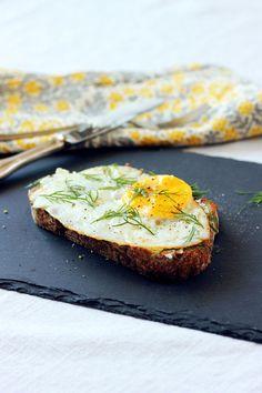 Goat Cheese, Egg & Dill Sandwich