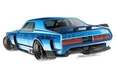 Road Race Cougar #ragledesign #mercurycougar #cardesign #rendering