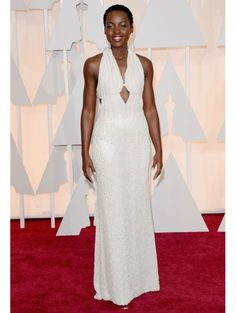 Lupita Nyong'o in custom-made Calvin Klein Collection  | Oscars 2015