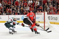 That open-net goal though... Minnesota Wild at Chicago Blackhawks - 05/04/2014 Hawks win 4-1 Up 2-0 in the series