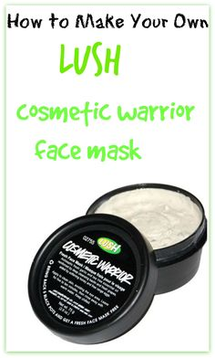 DIY LUSH Cosmetic Warrior Face Mask. A frikken miracle in a jar! So EASY to do + WAY cheaper than store bought! Works really well for acne, dark spots, discolouration, scarring, fine lines, and wrinkles. I use this once a week to reduce the appearance of scars and it's unbelievable!