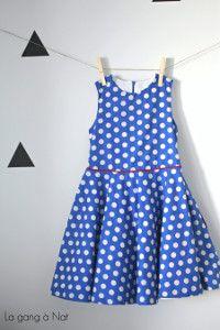 Polka Dot Circle Dress for Tweens