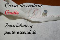 Aprender a coser un sobrehilado y punto escondido