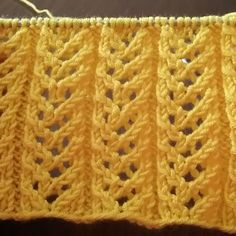 Knitting pattern via @ havvaninorguevi Rib Stitch Knitting, Knitting Stiches, Crochet Stitches Patterns, Knitting Videos, Easy Knitting, Knitting Patterns Free, Knitting Designs, Knit Crochet, Knit Lace