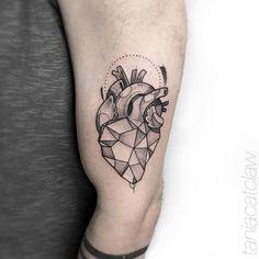 Heart tattoo by Tania Catclaw Tattoo