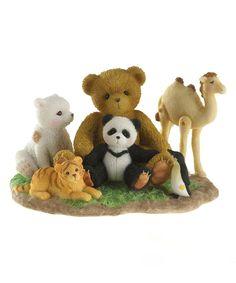 Another great find on #zulily! Cherished Teddies Endangered Friends Figurine by Cherished Teddies #zulilyfinds