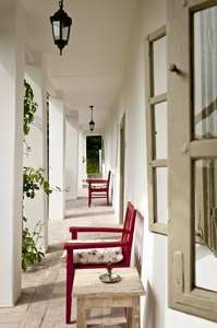 red chairs and small tables on the porch Red Chairs, Small Tables, Cottage Homes, Home Hacks, Traditional House, Homeland, Country Style, Home Projects, Modern Farmhouse