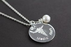 Medical Alert Jewelry Custom Engraved Medic ID, 925 Sterling Silver