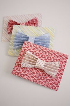 Scratch Off Bow Tie Father's Day Card via @Delia Creates | DIY Father's Day Card