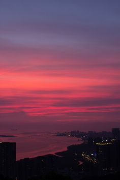 True to color. Absolutely breathtaking. Tamsui, New Taipei City. Taiwan.