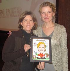 Elizabeth Gilbert and I - she loved her caricature