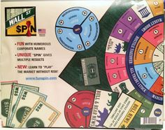 Wall Street Spin Board Game Stock Market Homeschool tool Learn Math skills Terms #FunSpin