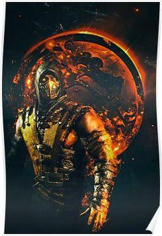 Mortal Kombat X Scorpion WallArt Print SyanArt Station Mortal Kombat X Scorpion, Sub Zero Mortal Kombat, Escorpion Mortal Kombat, Mortal Kombat Tattoo, Mortal Kombat X Characters, Mortal Kombat Videos, Reptile Mortal Kombat, Mortal Kombat X Wallpapers, Claude Van Damme