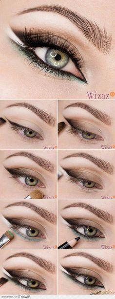 58 Trendy Makeup Tutorial Eyeliner Make Up Eye Makeup Tips, Makeup Inspo, Makeup Inspiration, Glamouröses Makeup, Makeup Ideas, Eyeliner Makeup, Contouring Makeup, Makeup Brushes, Makeup Tricks