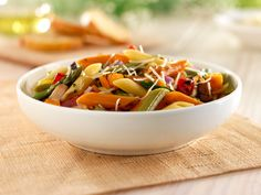 Add a splash of color to your Al Fresco meal with the Barilla® Tri-Color Penne Pasta Salad with Roasted Veggies & Shredded Parmigiano Cheese. Get the recipe and enter for your chance to win a $3,000 Al Fresco Dining Makeover!