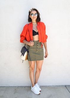 c70c9cf0e30 jacket + top + skirt + sneakers Nikolina Konstantinova Dobreva