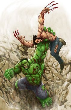 Hulk vs Wolverine Created by Alex Lopez