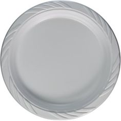 Blue Sky 100 Count Disposable Plastic Plates 9-Inch White  sc 1 st  Pinterest & Daily Chef 6.25\