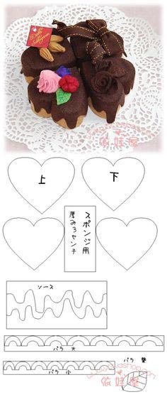 手工 不织布 可爱 甜点 蛋糕