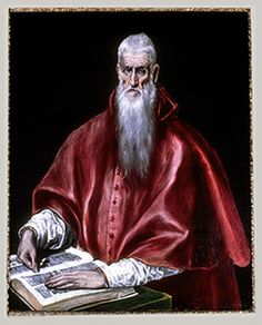 El Greco - Saint Jerome As A Scholar Art Print. Explore our collection of El Greco fine art prints, giclees, posters and hand crafted canvas products St Jerome, Renaissance Espagnole, People Reading, National Gallery, Renaissance Paintings, Renaissance Art, Old Master, Metropolitan Museum, Les Oeuvres