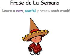 Spanish Phrase of the Week Poster Printables Back to School