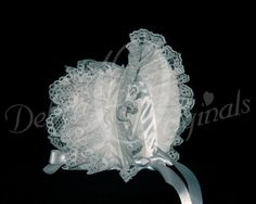 Lacey Bonnet Christening/Blessing, click photo to see more elegant designs