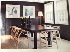 Jan/13 Canadian House & Home Magazine Hans Wegner Wishbone Chairs