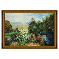 Corner of the Garden at Montgeron by Monet Framed Oil on Canvas Reproduction