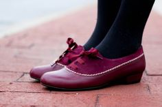 Anthropologie lace-up shoes. Adorable.