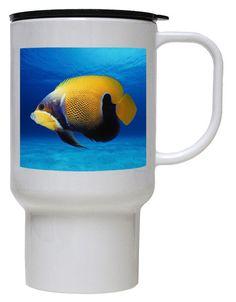 Blue Girdled Angelfish Polymer Plastic Travel Mug