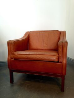 Danish Mid Century Tan Leather Armchair Http://www.kingdomfurnishings.uk/