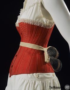 Corset and wire bustle 1880