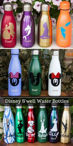 Disney Glitter Personalized S'well water bottles are a great gift for anyone who loves Disney. There are so many different characters! #ad #disney