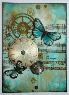 Butterfly ATC. For My handmade greeting cards visit me at My English Personal blog: http://stampingwithbibiana.blogspot.com/