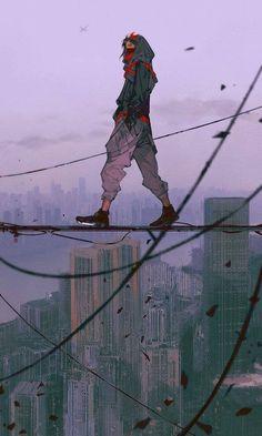 Arte Cyberpunk, Cyberpunk Anime, Pretty Art, Cute Art, Aesthetic Art, Aesthetic Anime, Aesthetic Fashion, Urbane Kunst, Japon Illustration