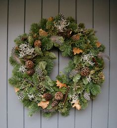 Foraged festive christmas wreath courtesy of Helen Powell, creator of design and lifestyle blog Design Hunter.