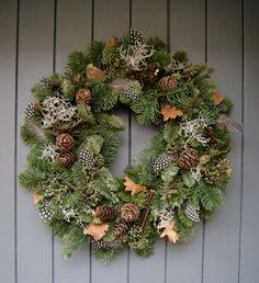 Foraged festive christmas wreath courtesy of Helen Powell, creator of design and lifestyle blog Design Hunter.