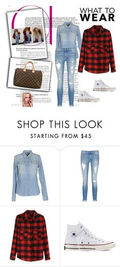 """""""Beyonce on the run"""" by queenkayla01 ❤ liked on Polyvore featuring Hilfiger Denim, rag & bone/JEAN, Converse, Louis Vuitton, women's clothing, women's fashion, women, female, woman and misses"""