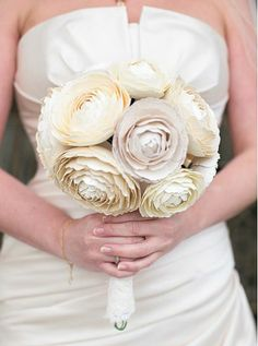 These and the other bouquets on this blog entry might not work in a scrapbook, but they are very pretty paper flowers.
