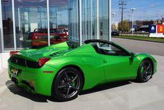 Verde-Kers-Lucido Green 2012 Ferrari 458 Spider