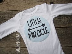 Baby Annoucement Little Miracle Baby with Arrows, Baby Shower Gift, Pow Wow, boy, girl, pink, blue, by LakynnRow