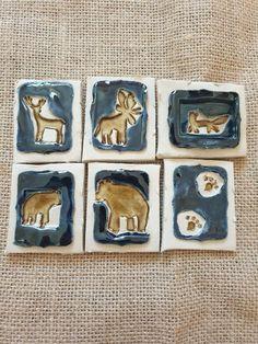 Rustic Art, Rustic White, Woodland Art, Honey Brown, Woodland Creatures, Blue Backgrounds, Moose, Deer